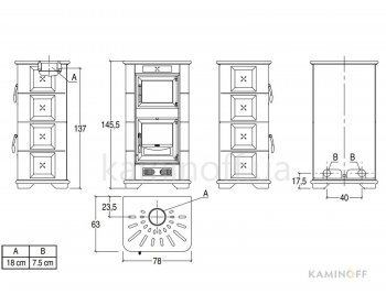 Конвекционная печь Piazzetta E900 M