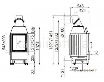 Камінна топка Spartherm Mini Z1 - 7 kW