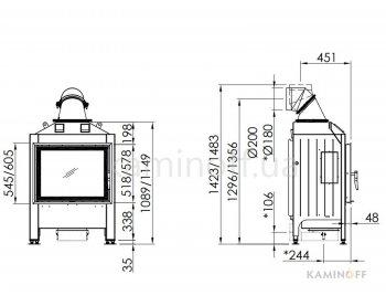 Конвекционная топка Spartherm Varia 1V
