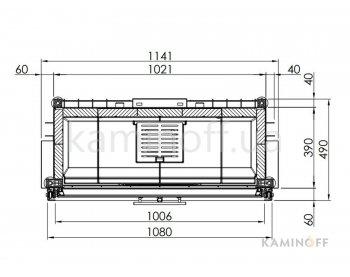 Конвекционная топка Spartherm Varia 1V 100h