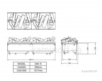 Электрокамин 3D Dimplex Cassette 1000