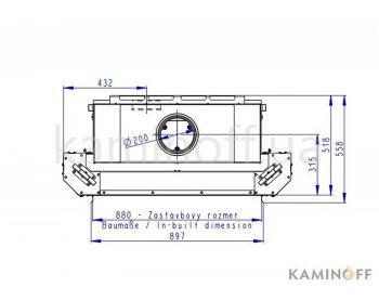Конвекционная топка Romotop Heat 3g L 88.66.01