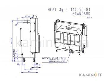 Конвекционная топка Romotop Heat 2g L 110.50.01