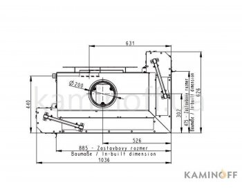 Камінна топка Romotop Heat R/L 3g L 81.51.40.01