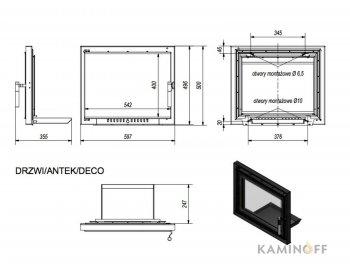 Дверца для камина Kratki Antek Deco