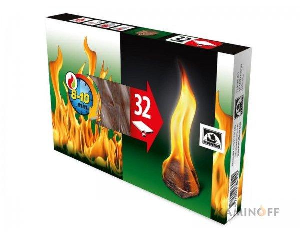 Разжигатель огня Hansa 32шт