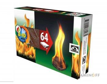 Разжигатель огня 64шт Hansa