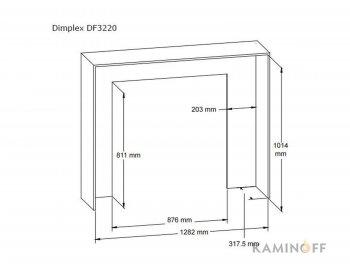 Классический электрокамин Dimplex Multifire 32 (DF3220-EU)