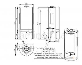Конвекционная печь Romotop BELO 3S 03