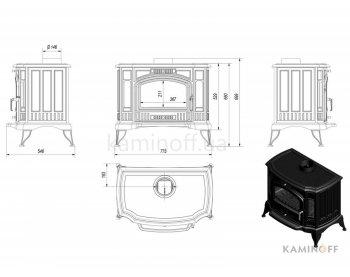 Конвекционная печь Kratki Koza K9 150