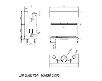 Камінна топка M-Design Luna 1150H Classik