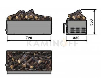 Електрокамін 3D Dimplex Cassette L