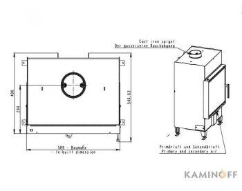 Конвекционная топка Romotop Heat 2G 59.50.01