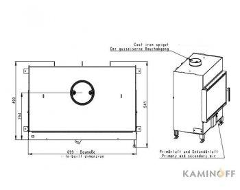 Конвекционная топка Romotop Heat 2g 70.44.01